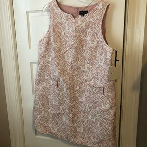 Victoria Beckham 1x  target pink and white dress
